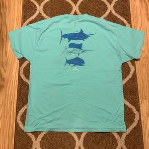 Guy Harvey Aqua, Fish Pocket Tee - XL